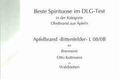 Beste Spirituose Apfel-Bittenfelder